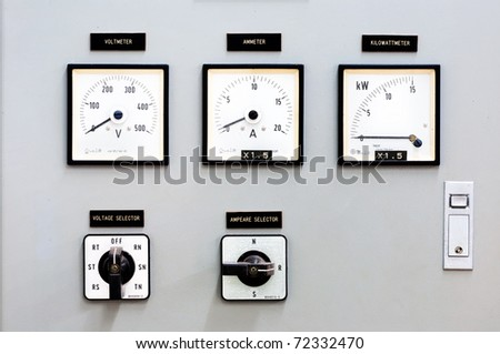 Dial control The production of electricity. - stock photo
