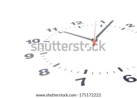 Dial of the clock isolated on white background - stock photo