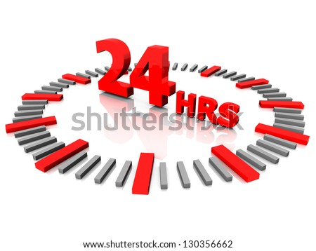 Dial with a sign of a round-the-clock - stock photo