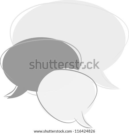 Dialog clouds - stock photo