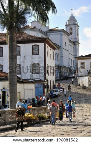 Diamantina, Minas Gerais, Brazil -� March. 4. 2008: Diamantina, old colonial city, was diamond mining town in 18-19th C, famous for preserved Brazilian Baroque architecture, UNESCO World Heritage Site