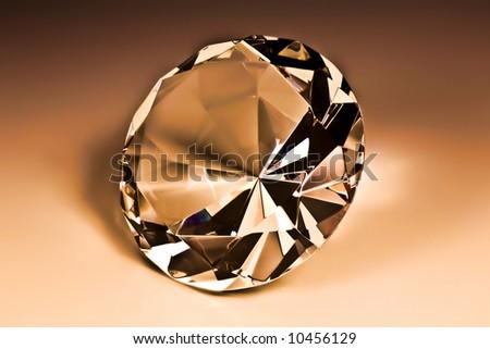 Diamond close-up - stock photo