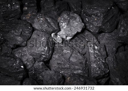 diamond, coal - stock photo