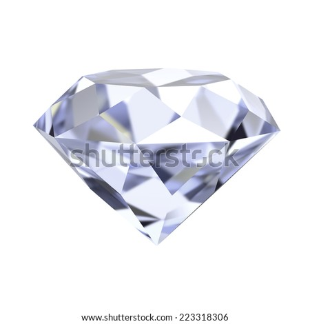 diamond 3d render illustration - stock photo