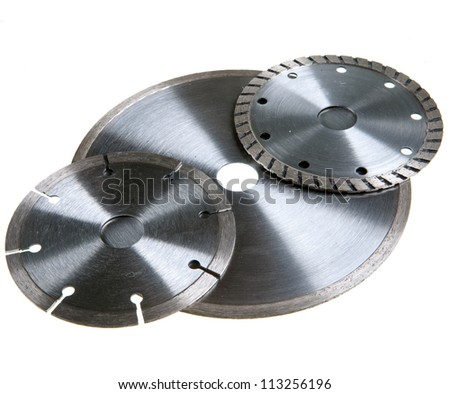 Diamond discs for tile cutting - stock photo