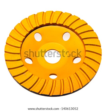Diamond disk for concrete cutting and abrasion - stock photo