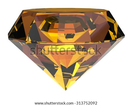 Diamond gold. Clipping path included.