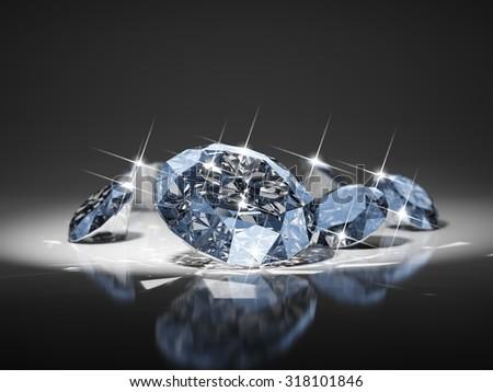 Diamond in focus - stock photo