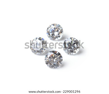 diamond isolated  on white background - stock photo