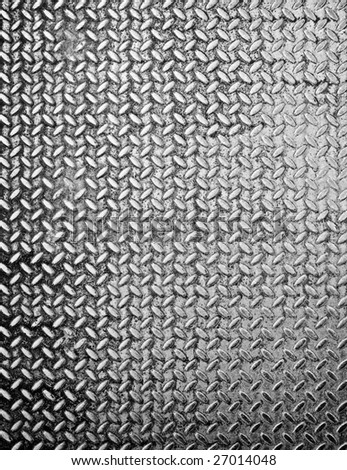 diamond metal plate - stock photo