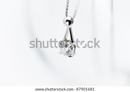 Diamond necklace - stock photo