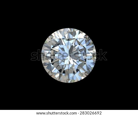 diamond on black background with high quality - stock photo