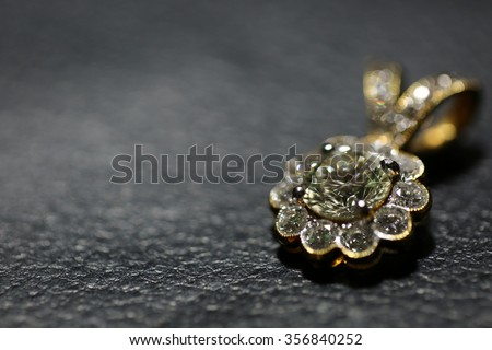 Diamond Pendant for background,Selective focus - stock photo
