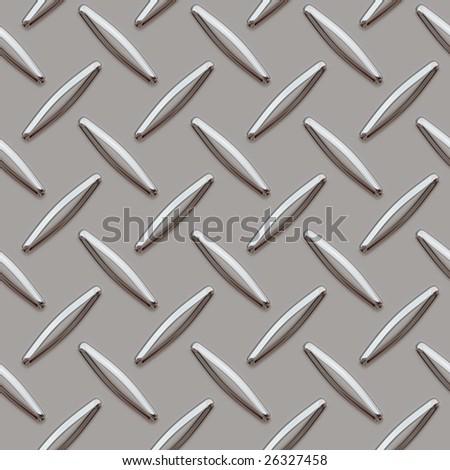 diamond plate, seamlessly background - stock photo