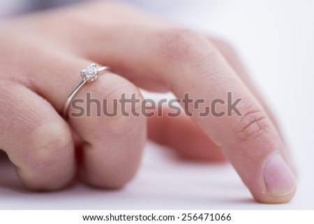 Diamond ring. - stock photo
