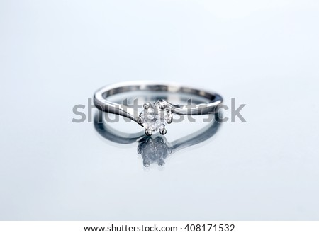 Diamond ring close up