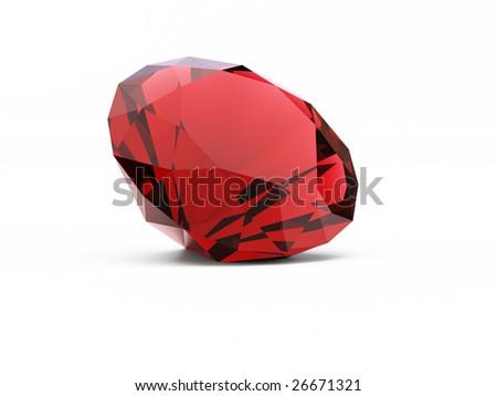diamond (ruby) - stock photo