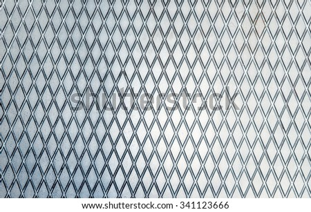 Diamond shaped iron steel plates texture shot - stock photo