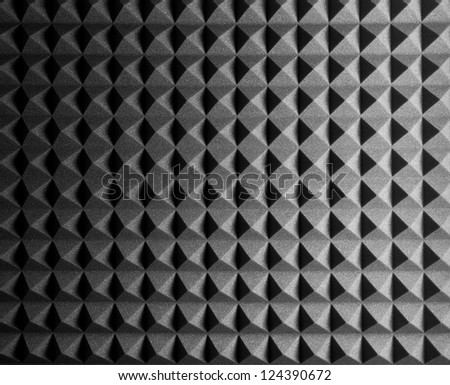 Diamond Shaped Rubber Foam Texture - stock photo