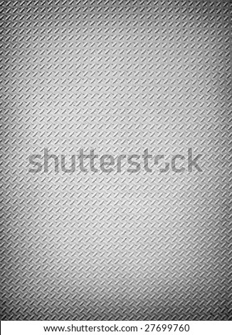 diamond steel plate - stock photo