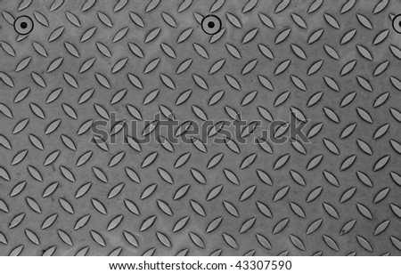 Diamond steel plate useful as a background