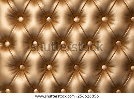diamond stitched leather furniture for background or texture