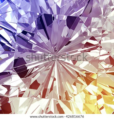Diamond texture with colorful abstract, 3d illustration. - stock photo