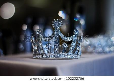 Diamond Tiara or Crown for Prom and Wedding - stock photo