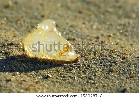 Uncut And Unpolished Diamonds Diamond Uncut on Sand Stock