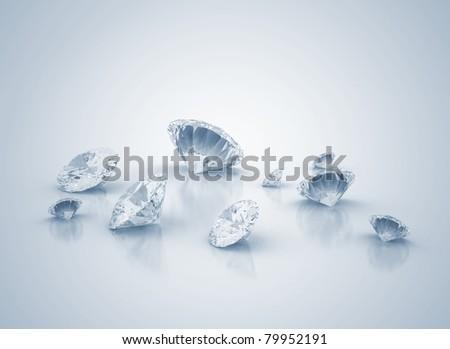 Diamonds background - stock photo