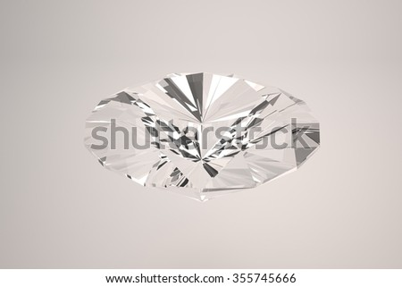 Diamonds isolated 3D