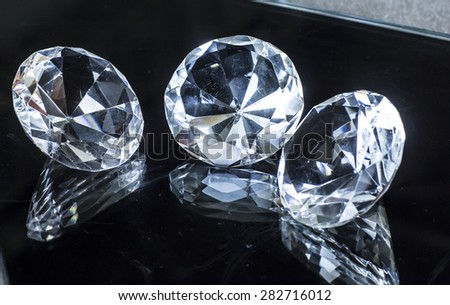 diamonds jewel - stock photo