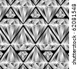 diamonds pattern, abstract texture; art illustration; for vector format please visit my gallery - stock photo