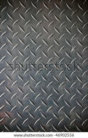 diamont plate metal background - stock photo