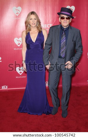 Diana Krall and Elvis Costello at the 2012 MusiCares Person Of The Year honoring Paul McCartney, Los Angeles Convention Center, Los Angeles, CA 02-10-12