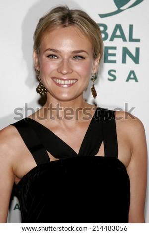 Diane Kruger attends the Global Green USA Pre-Oscar Celebration to Benefit Global Warming held at the The Avalon in Hollywood, California on February 21, 2007.  - stock photo