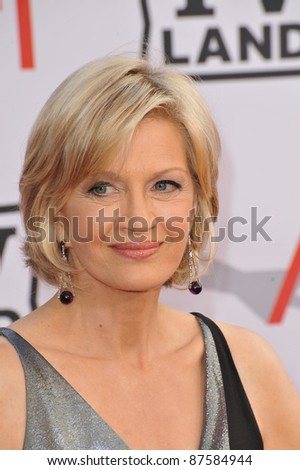 Diane Sawyer at the 2010 AFI Life Achievent Award Gala, honoring director Mike Nichols, at Sony Studios, Culver City, CA. June 10, 2010  Los Angeles, CA Picture: Paul Smith / Featureflash - stock photo