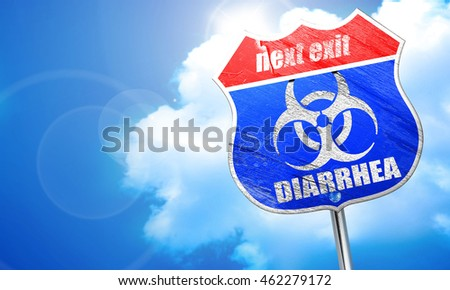 Diarrhea concept background, 3D rendering, blue street sign