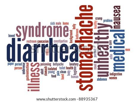 Diarrhea Symptoms Info text clouds - stock photo
