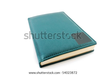 Diary isolated on a white background