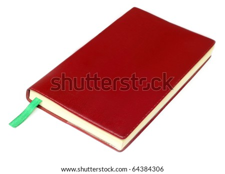 Diary isolated over white background - stock photo