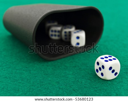 dice kit on the green casino field