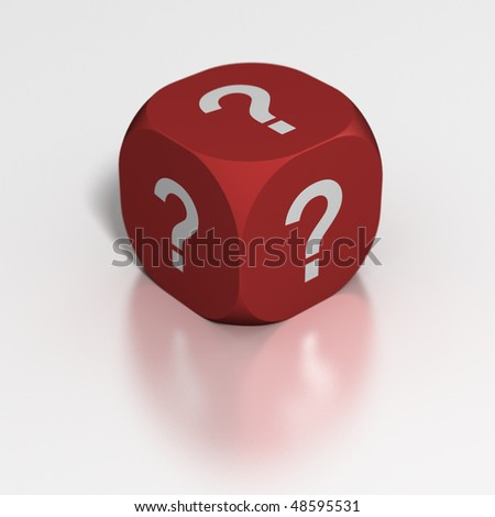 Dice of Questions - stock photo