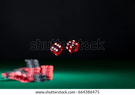 Dice Rolling Room Frame Copy Eleven Stock Photo 664386475 - Shutterstock