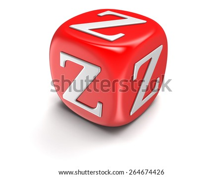 Dice with letter Z (clipping path included) - stock photo