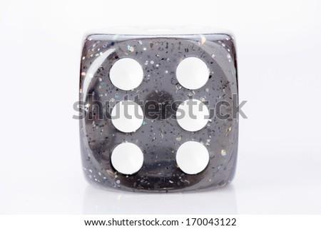 Dice with spots on white background