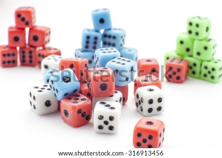 Dices in several forms - stock photo