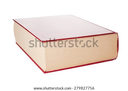 Dictionary closeup on white background - stock photo