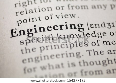 Dictionary definition of the word engineering.