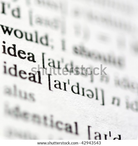 Dictionary definitions of powerful business words and phrases